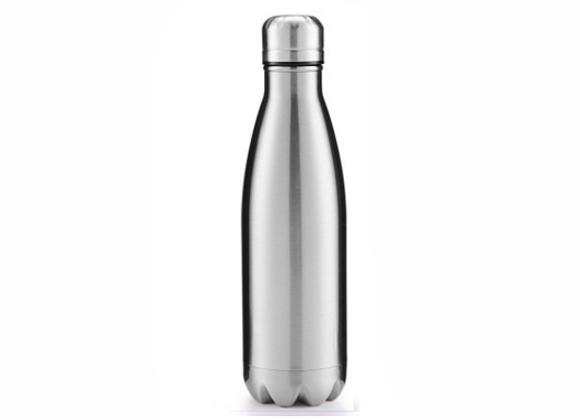 """בקבוק נירוסטה מעוצב בצבע נירוסטה מוברשת 750 מ""""ל"""