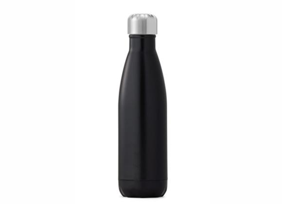"""בקבוק נירוסטה מעוצב שחור חלק 500 מ""""ל"""