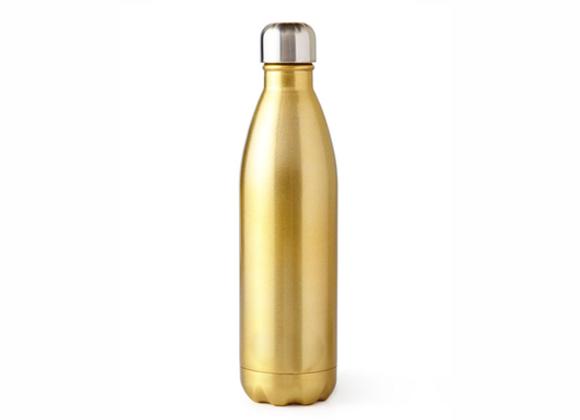 """בקבוק נירוסטה מעוצב זהב מטאלי 500 מ""""ל"""