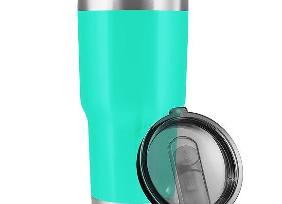 כוס תרמית עם מכסה וקש