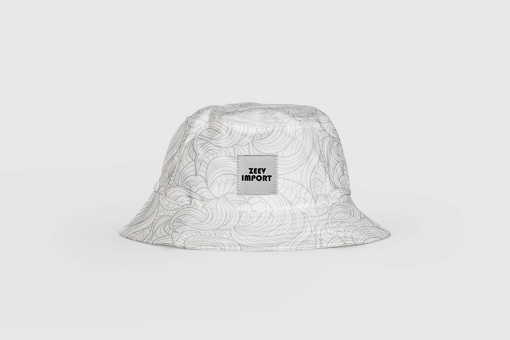 זאב אימפורט | כובע באקט כובע טמבל מיתוג מלא עם פאטצ' תפור