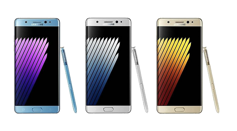 samsung galaxy note 7 Available in four stunning colors: Black Onyx, Blue Coral, Gold Platinum and Silver Titanium.