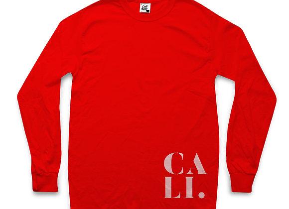חולצת טי שירט ארוכה לנשים בצבע אדום