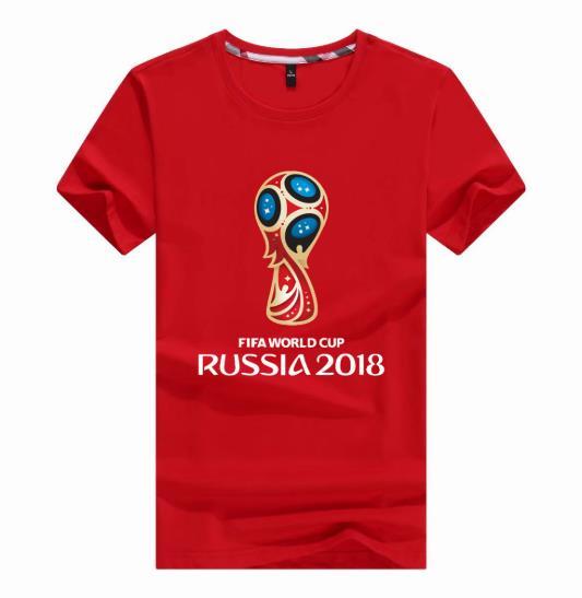 מוצרי פרסום שנעשו למונדיאל 2018 ברוסיה: הדפסה על חולצות לוגו של מונדיאל רוסיה 2018