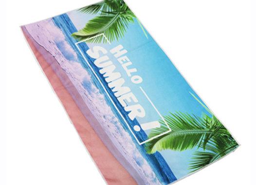 מגבת חוף מלבנית ממותגת