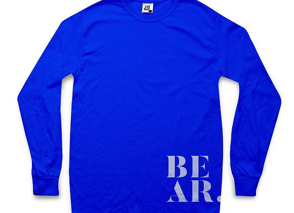 הדפסה על חולצה ארוכה לנשים בצבע כחול