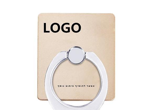 RING רינג טבעת אחיזה ומעמד לטלפון ממותגת עם לוגו