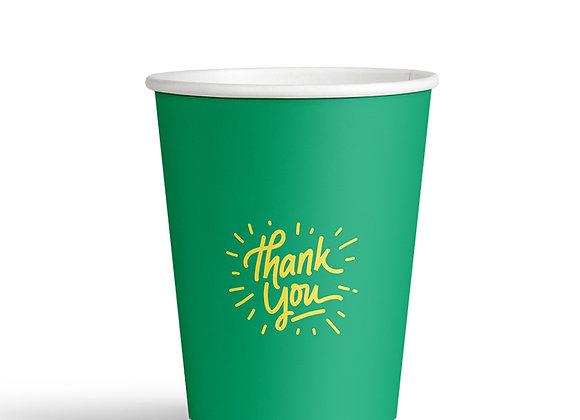 כוס חד פעמית ממותגת לשתייה חמה