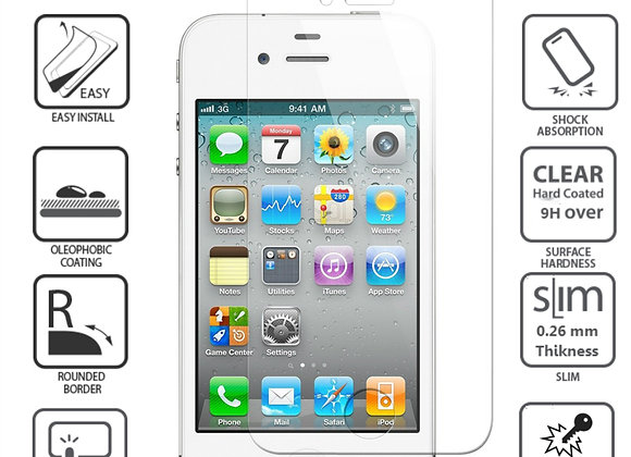 Iphone 4S/4 מגן זכוכית לאייפון