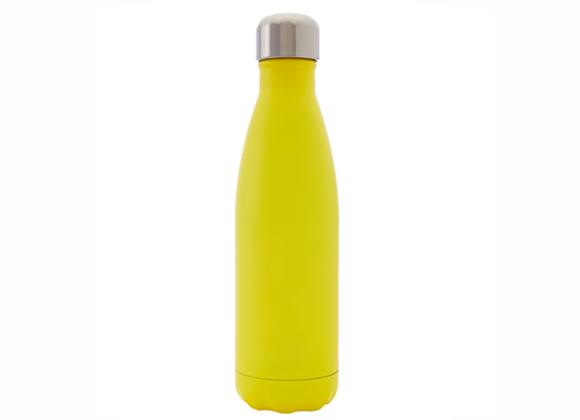 """בקבוק נירוסטה מעוצב צהוב חלק 500 מ""""ל"""