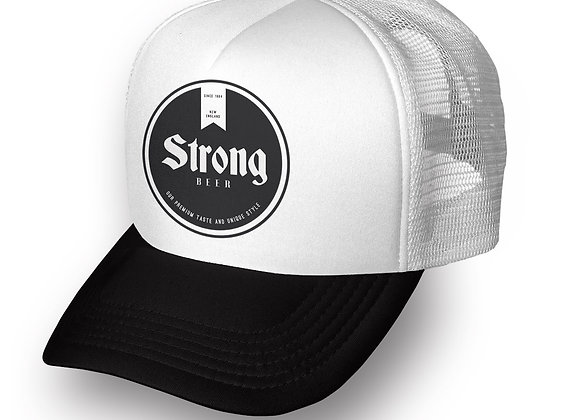 כובע רשת ממותג עם הדפסה 2 צבעים