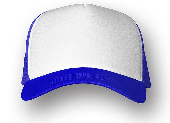 כובע רשת ממותג בצבע כחול