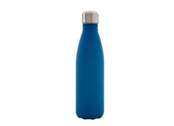 """בקבוק נירוסטה מעוצב כחול חלק 500 מ""""ל"""