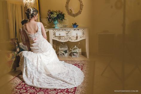 Yara e Marcio vestido de noiva