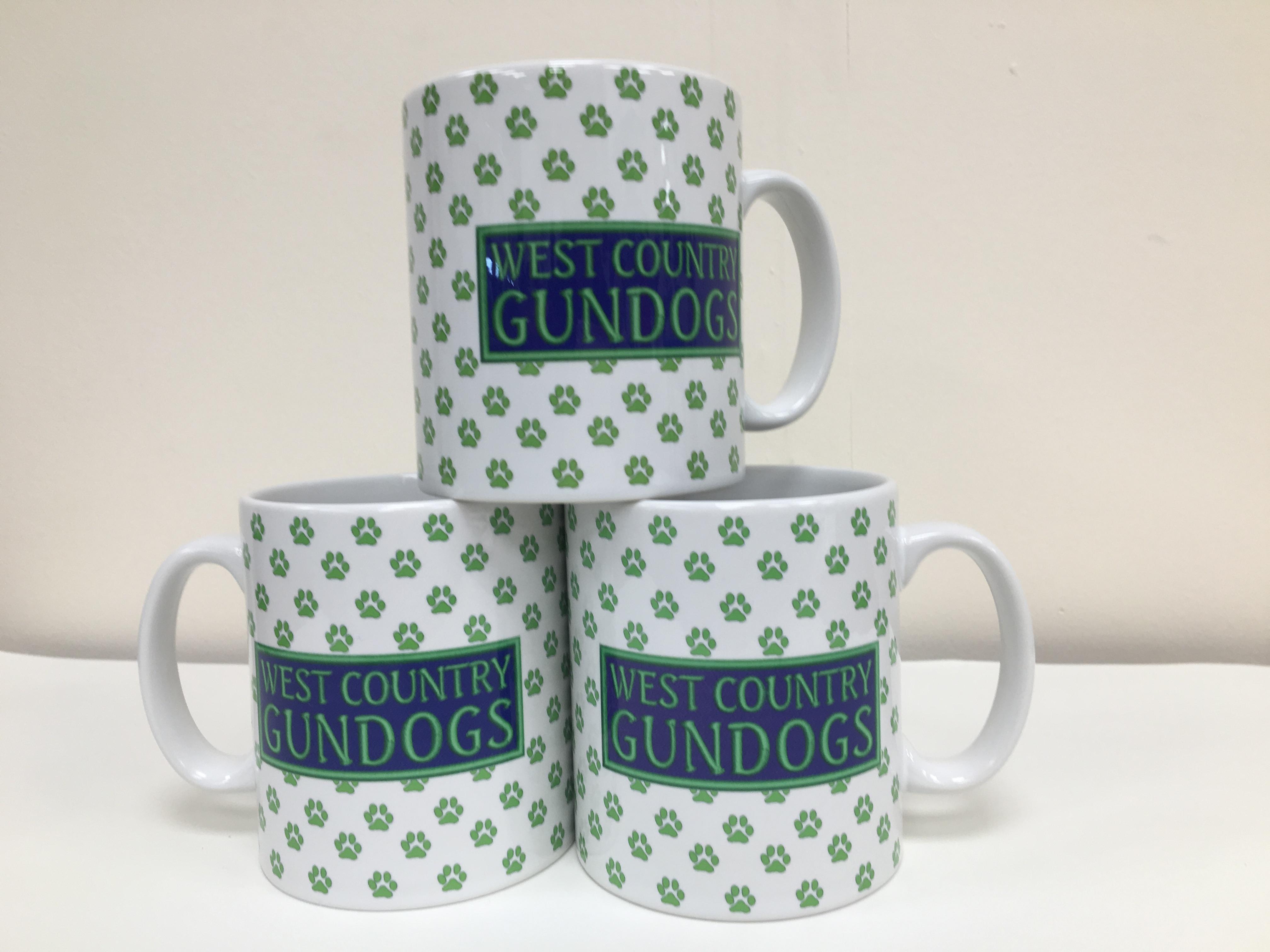 In-house printed mugs