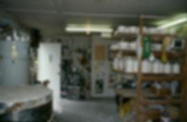 Just inside my studio.