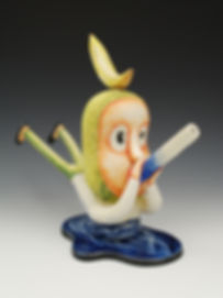 Patti Warashina, Banana Boy, 2003. This was a gift from Patti and my family.