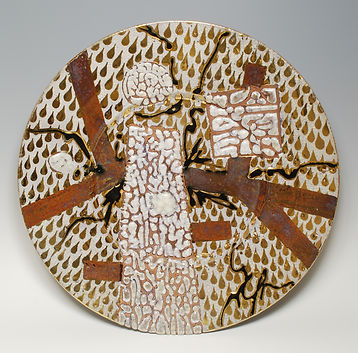 Bob Sperry, 1976. With crackle and crawl glazes.