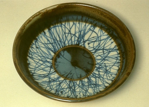 "Porcelain Bowl with Brushwork Decoration, 12"", 1978."