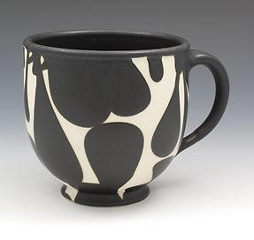 "4) B/W Cup, 4.5""x 6""x 4.5""."