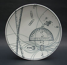 "2) A Simple Idea, 12"". This plate is in the American Museum of Ceramic Art permanent collection."