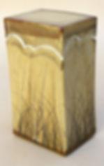 "Stoneware with Brushwork, 11"", 1976."