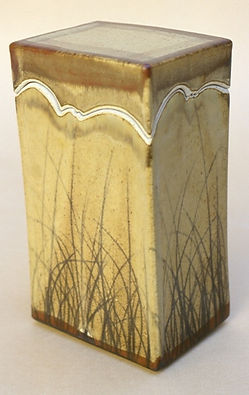 "Stoneware with Brushwork, 11"", 1976."