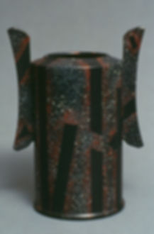 "Porcelain Vase with China Paint Decoration, 13"", 1990. It is in the book, China Paint & Overglaze."