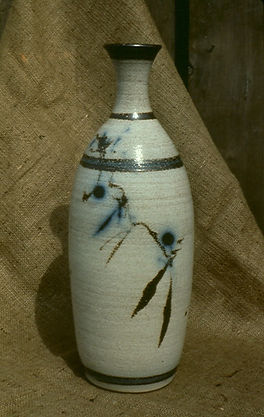 "Salt Fired Bottle, 14"", 1975."
