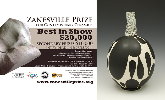 2014 Zanesville Prize, I was a finalist for the Zanesville Prize for Contemporary Ceramics.