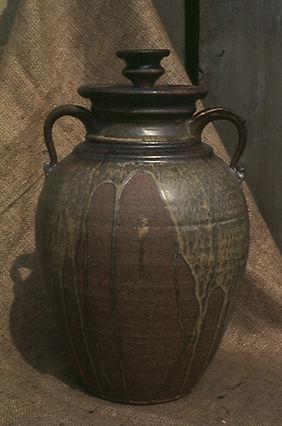 "Stoneware Jar, 16"", 1975."