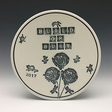 This plate was for fellow participant Carol Gouthro and her love of nature.