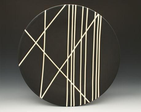 """10) B/W Linear Platter, 14"""" dia."""