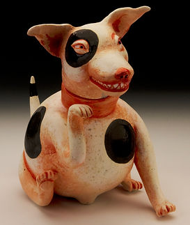Patti Warashina, Dog, 2012. I got this at a UW fundraiser.