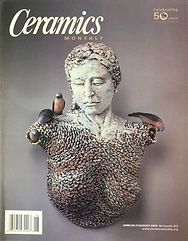 Ceramics Monthly, June-July-Aug. 2003, cover.