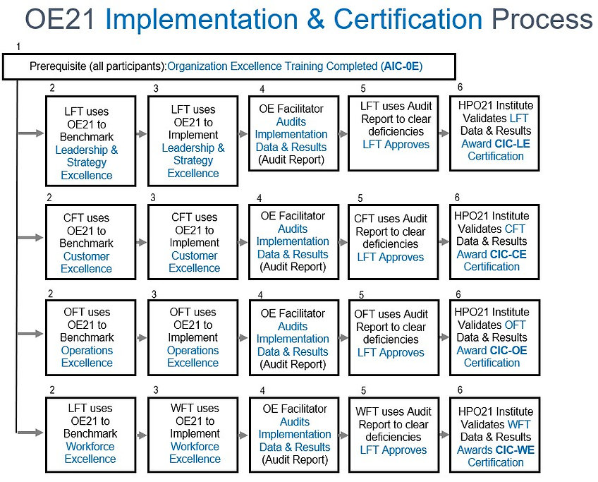 OE21 IMPLEMENT CERTIFICATION PROCESS FLO