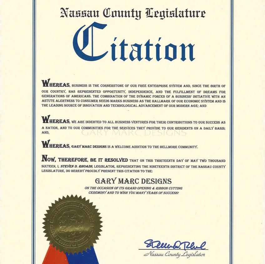 Nassau County Citation