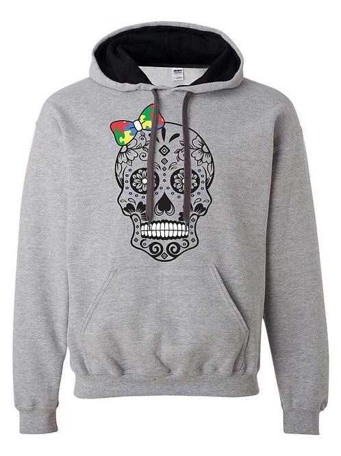 Bow Skull Unisex Hoodie (2 colors)