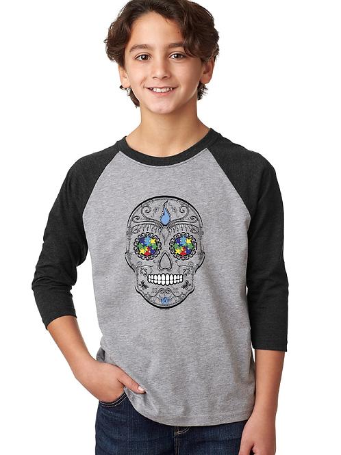Skull Youth 3/4 Raglan