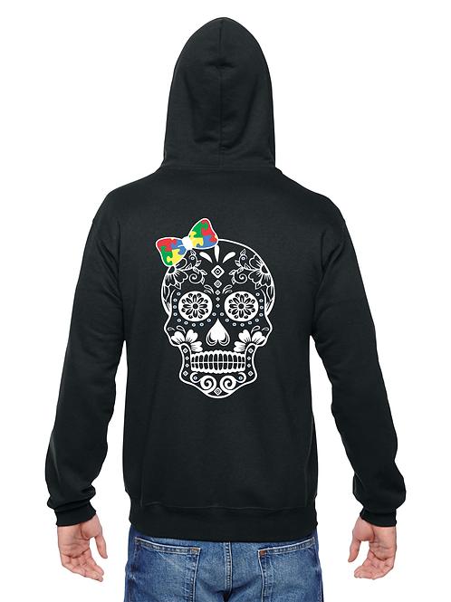 Primary Colors Bow Skull Zip Hoodie