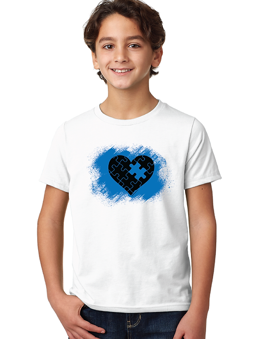 Puzzle Splash Autism Kids Tee