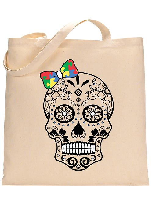 Bow Skull Tote Bag