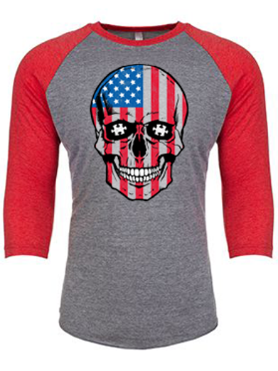 Patriotic Skull Unisex Jersey