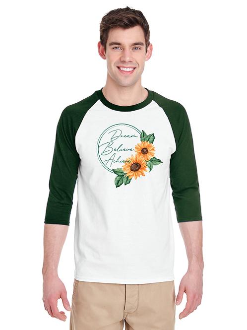 Dream Sunflower Unisex 3/4 Raglan