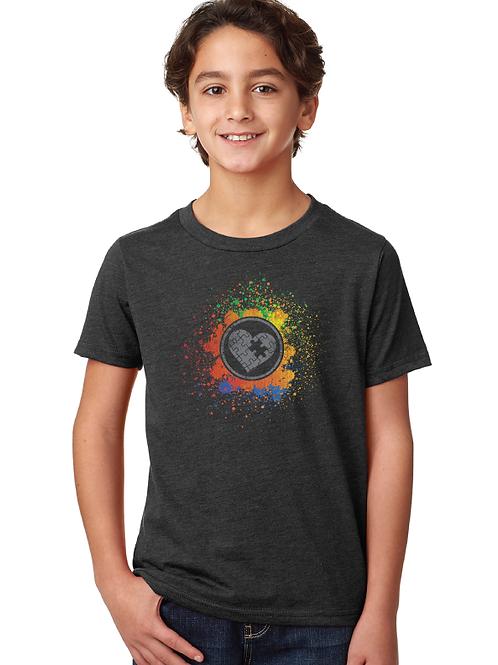 Rainbow Splash Youth Unisex Tee