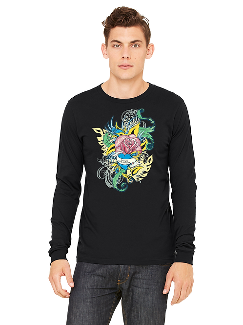 Flower Tattoo Unisex L/S