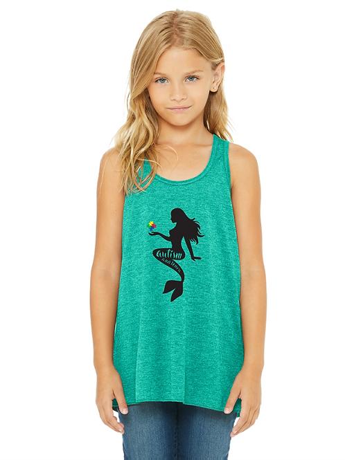 Mermaid Autism Awareness Girls Tank