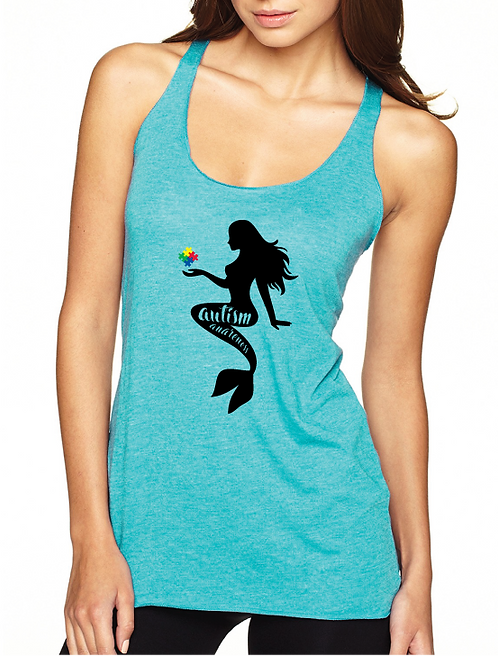 Mermaid Autism Awareness Ladies Tank