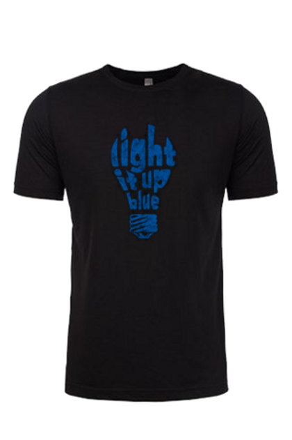 Light it Up Blue Bulb Unisex Tee