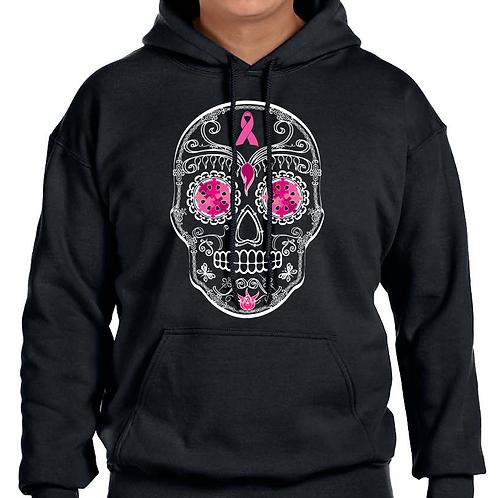 Sugar Skull Breast Cancer Unisex Hoodie